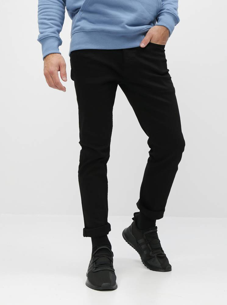 ONLY & SONS Čierne regular fit rifle ONLY & SONS Weft